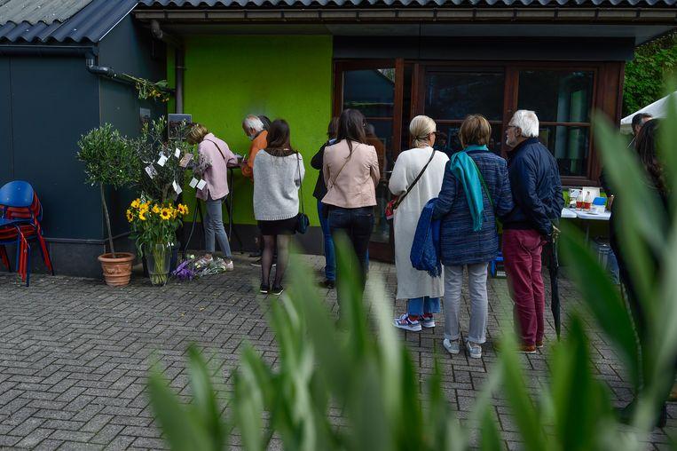 De wake voor Julie Van Espen in Schilde.