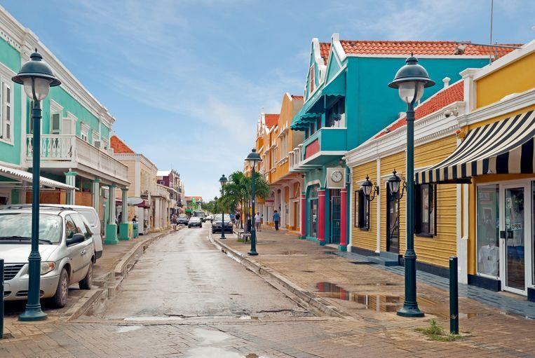 De Kaya Grandi in Kralendijk, de hoofdstad van Bonaire. Beeld Getty Images/iStockphoto