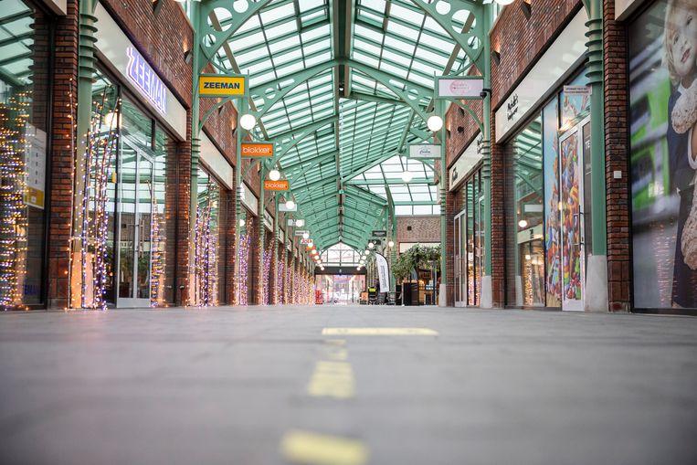 Het winkelcentrum. Beeld