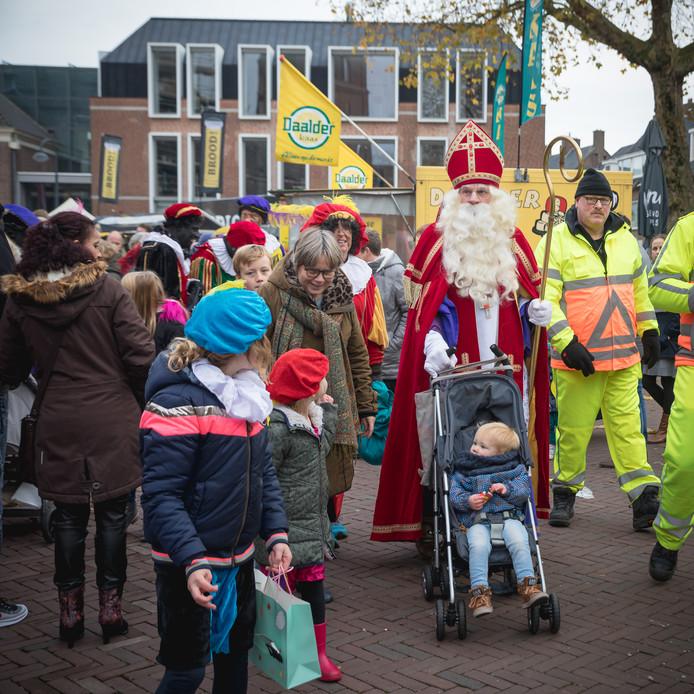 Sinterklaas aan de wandel in Wageningen