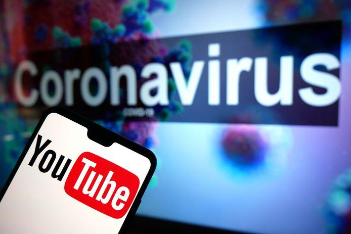 YouTube meldt dat het bedrijf al sinds februari duizenden video's heeft verwijderd met fake news over corona.