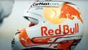 De nieuwe helm van Max Verstappen.