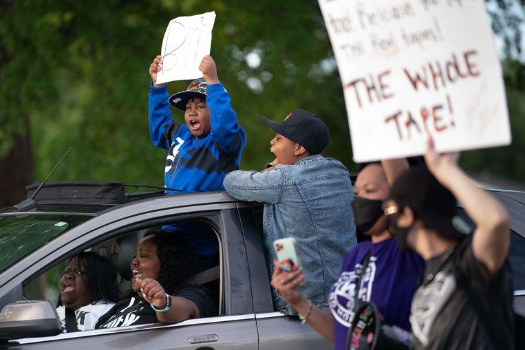 Protesten naar aanleiding van de dood van Andrew Brown. Beeld AFP