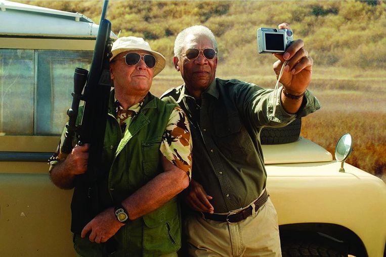Jack Nicholson (links) en Morgan Freeman in The Bucket List. Beeld