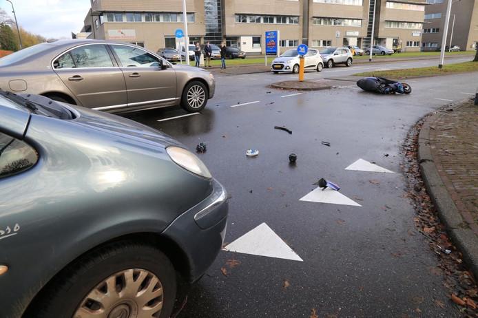 Scooterrijder gewond bij ongeval in Helmond