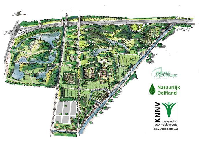 Een nieuw plan voor Landschapspark Pasgeld tussen Rijswijk en Delft.