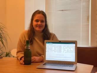 """Studente Erinke (19) opent online café: """"Om je verhaal te doen en nog eens echt te luisteren"""""""