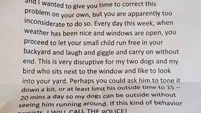 Als je denkt dat je buren onverdraagzaam zijn, lees dan deze brief