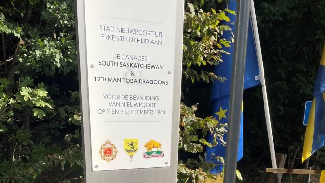 Nieuwpoort plaatst herdenkingsbord om Canadese bevrijders te bedanken, ook oorlogsheld Pieter (100) is van de partij