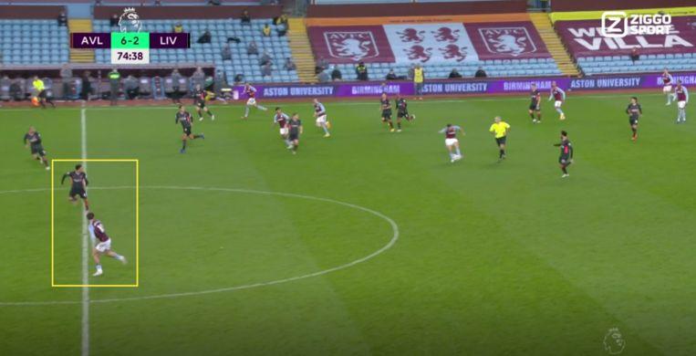 Op momenten dat Liverpool iets wil forceren, 'kantelen' ze massaal naar één flank toe om met zijn allen druk te zetten op en rond de bal. Beeld Ziggo Voetbal
