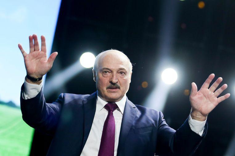 De Wit-Russische dictator Alexander Loekasjenko. Beeld AP