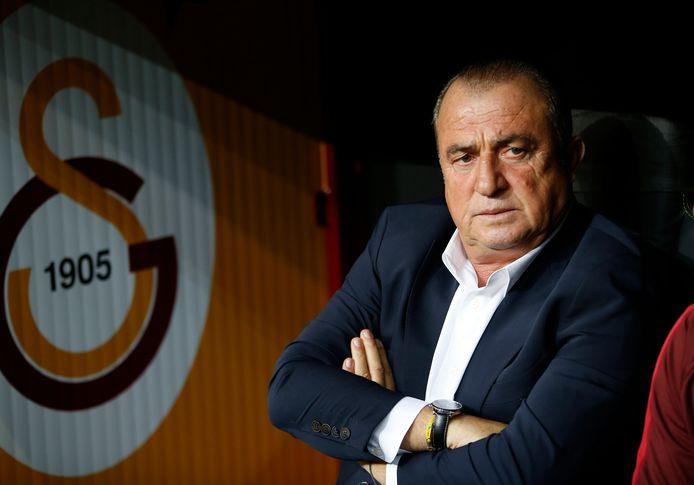 Fatih Terim sprak gisteren in Eindhoven voorafgaand aan het duel tussen Galatasaray en PSV.