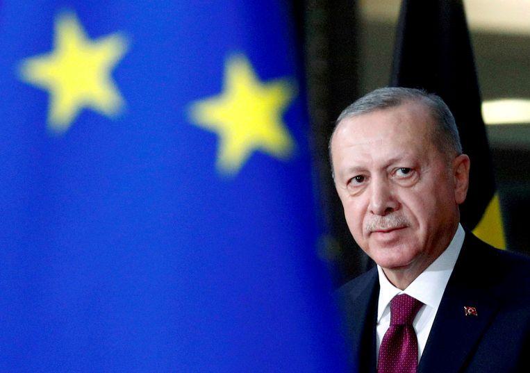 President Erdogans aankondiging om een internationaal verdrag voor vrouwenrechten op te zeggen, is geen goed voorteken. Beeld Reuters