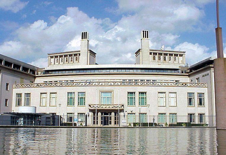 Het Joegoslaviëtribunaal in Den Haag. Beeld afp