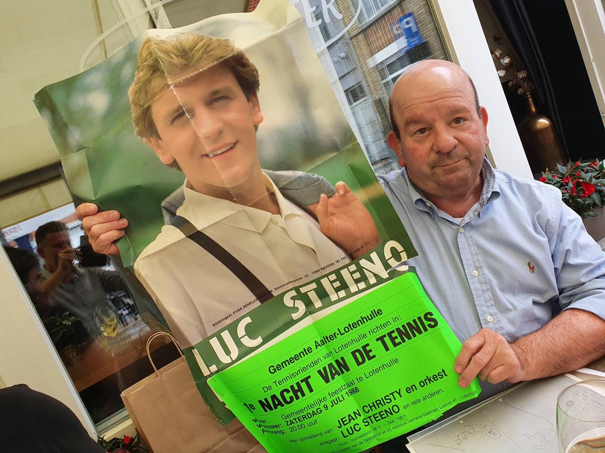 Dirk De Smul heeft de affiche nog van Luc Steeno die in 1988 als jonkie kwam optreden op het tennistornooi van Lotenhulle.