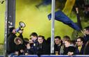 Beverse fans op Moeskroen tijdens de laatste speeldag voor corona uitbrak.