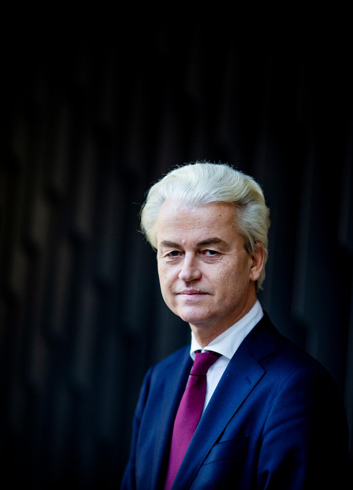 PVV-lijsttrekker Geert Wilders.