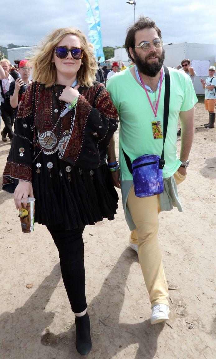 Adele en haar ex Simon Konecki in betere tijden.