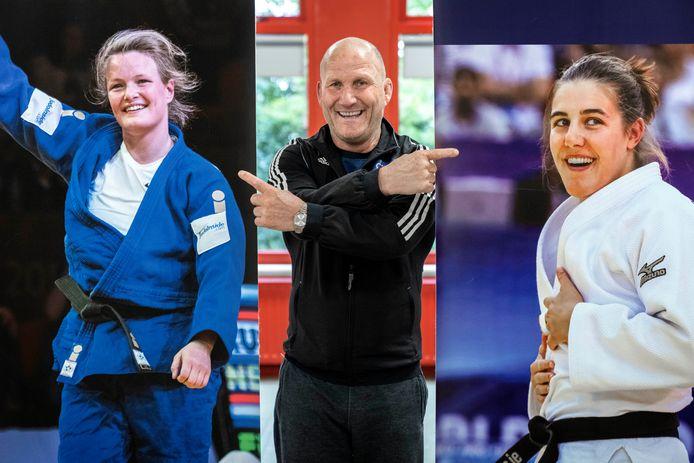 De judoloopbaan van Sanne van Dijke en Guusje Steenhuis werd voor een groot deel gevormd door Judoclub Berlicum, waar Jo Gevers (midden) een drijvende kracht is.