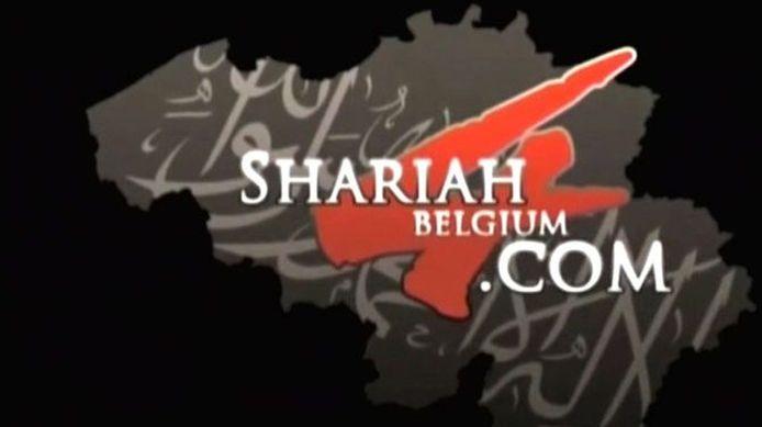 Het logo van Sharia4Belgium.