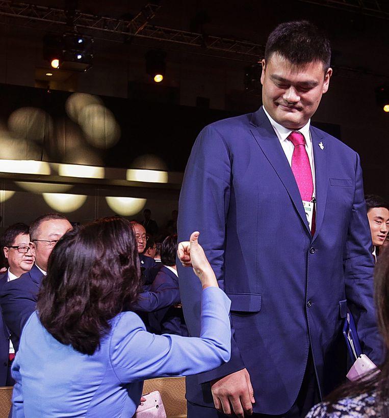 Net na de verkiezing van Peking als host van de Spelen. Beeld Fazry Ismail / EPA