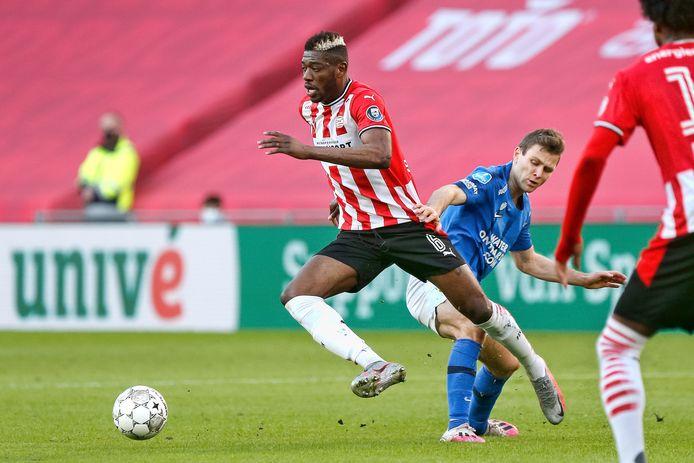 Ibrahim Sangaré is de komende twee duels (tegen Olympiakos en Ajax) geschorst bij PSV, door gele kaarten.