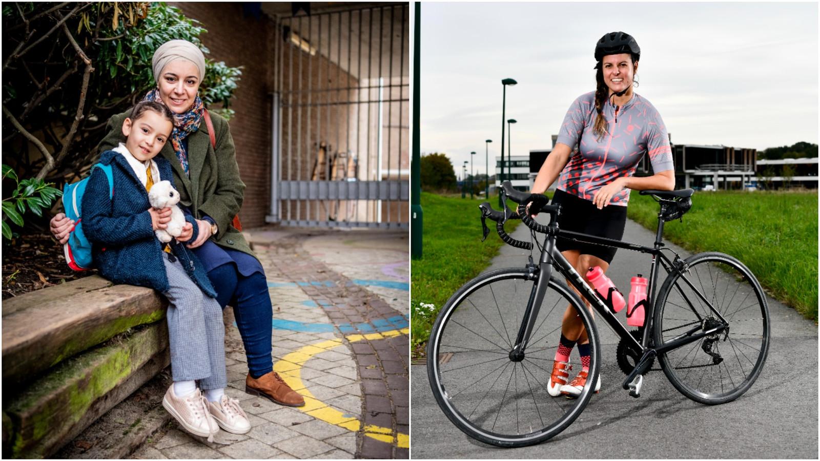 Meriem Saissi (links) gebruikte de vrijgekomen tijd om te studeren. Projectcoördinator Ellen Desloovere (rechts) gebruikte de vrijgekomen tijd dan weer om meer kilometers op haar racefiets te maken.