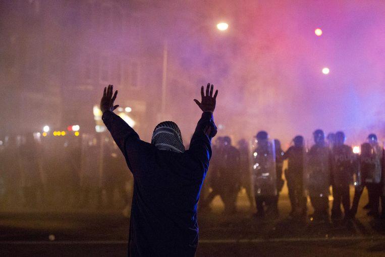 Baltimore, dinsdagnacht 28 april. Beeld ap