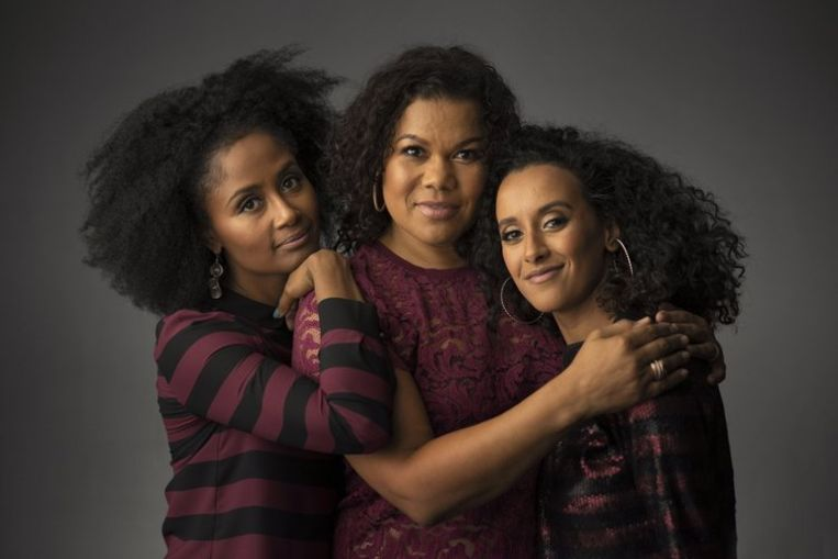 Ebissé Rouw, Anousha Nzume en Mariam El Maslouhi zijn de drie vrouwen achter de podcast Dipsaus Beeld RV