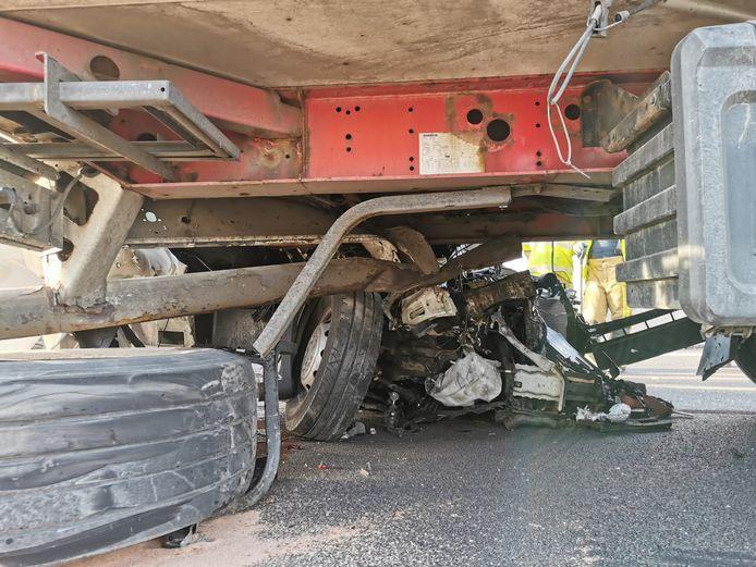ongeval E17 Kruibeke