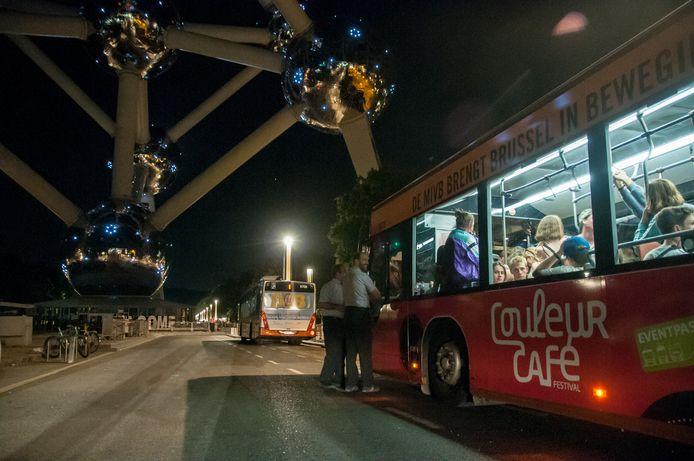 Couleur Café werkt met pendelbussen van de MIVB