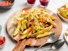 Wat Eten We Vandaag: Loaded fries met vegetarische rendang