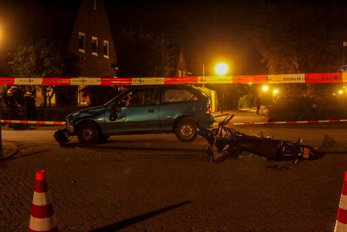 De schade na het ongeval in Warnsveld.