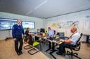 Het 'crowd control'-coördinatiecentrum in Oostende.