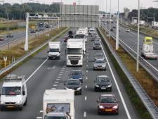 Ongeluk met vijf auto's op A2 bij Boxtel, weg weer vrij