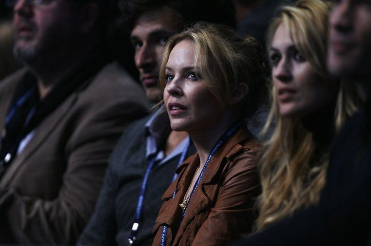 Kylie Minogue was een aandachtig toeschouwer bij Nadal-Roddick. Beeld UNKNOWN
