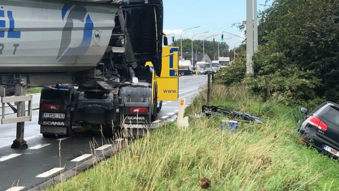 Trucker gekneld na zwaar ongeval in Wondelgem