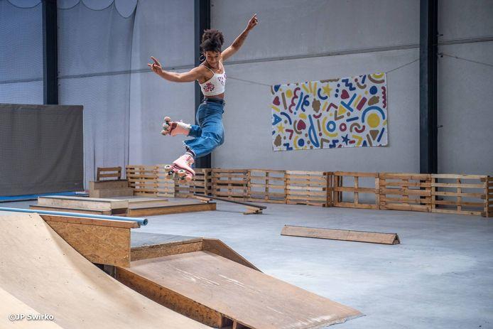 Mary-Isabelle Laroche is superblij met haar nieuw skatepark.