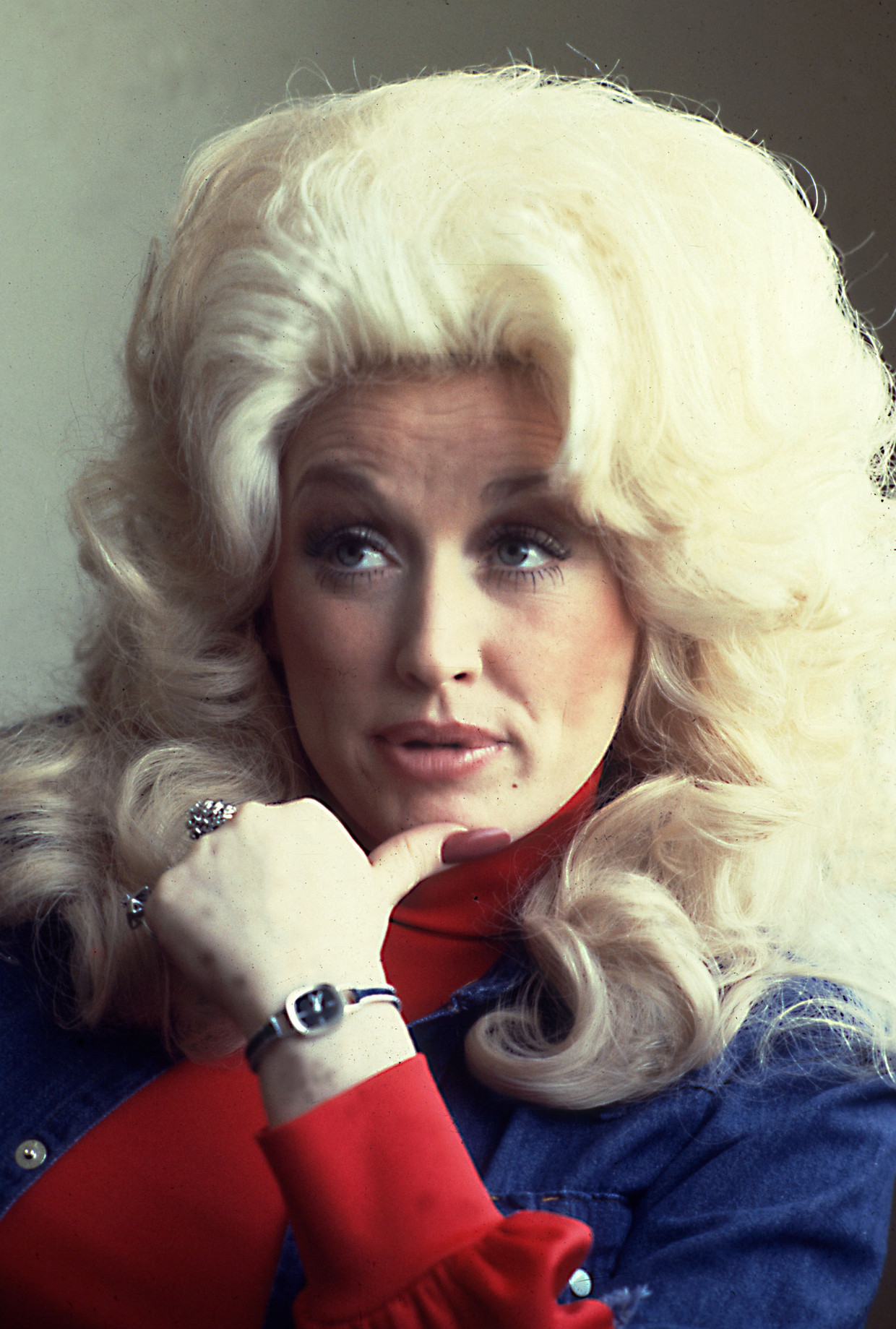 Dolly Parton in 1977.  Beeld WireImage