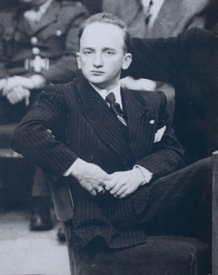 Ben Ferencz in Neurenberg, 1947. Hij onderzocht oorlogsmisdaden van de nazi's. Beeld Hollandse Hoogte / Polaris Image