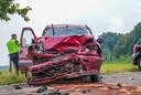 Hulpdiensten zijn donderdag massaal uitgerukt voor een ongeluk aan de Bekelaar in Mierlo.
