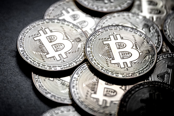 Fysieke representatie van de Bitcoin, 's werelds grootste cryptomunt