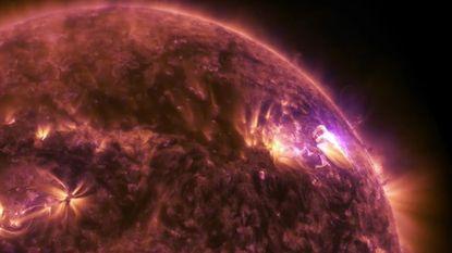 NASA registreert spectaculaire zonnevlam