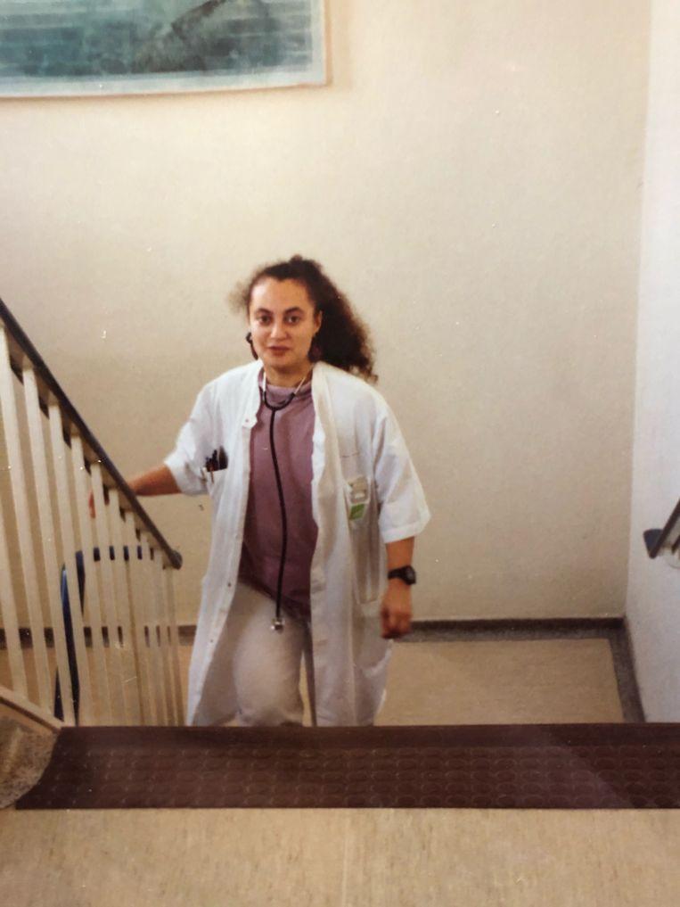 Aan het werk in het ziekenhuis in Veenendaal, rond 1990. Beeld
