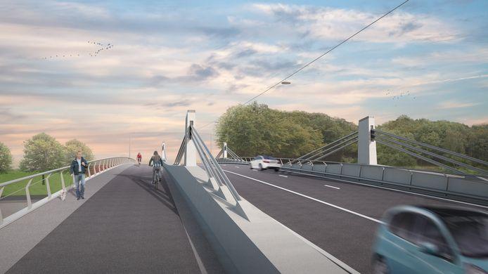 De toekomstige nieuwe brug