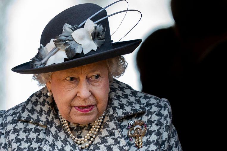 De Britse koningin Elizabeth II. Beeld EPA