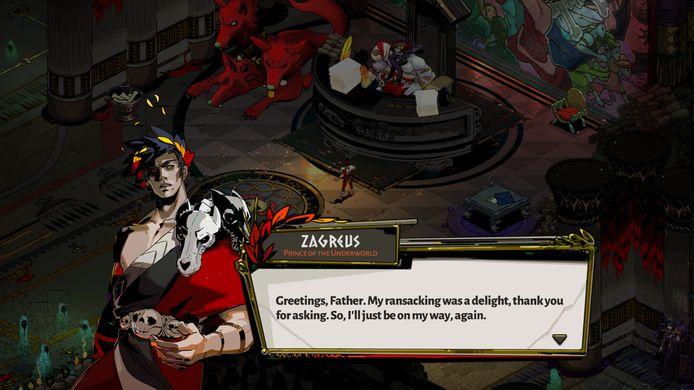 'Hades' houdt niet-fans van het genre in de actie dankzij een uitgebreid verhaal, verteld in dialogen.
