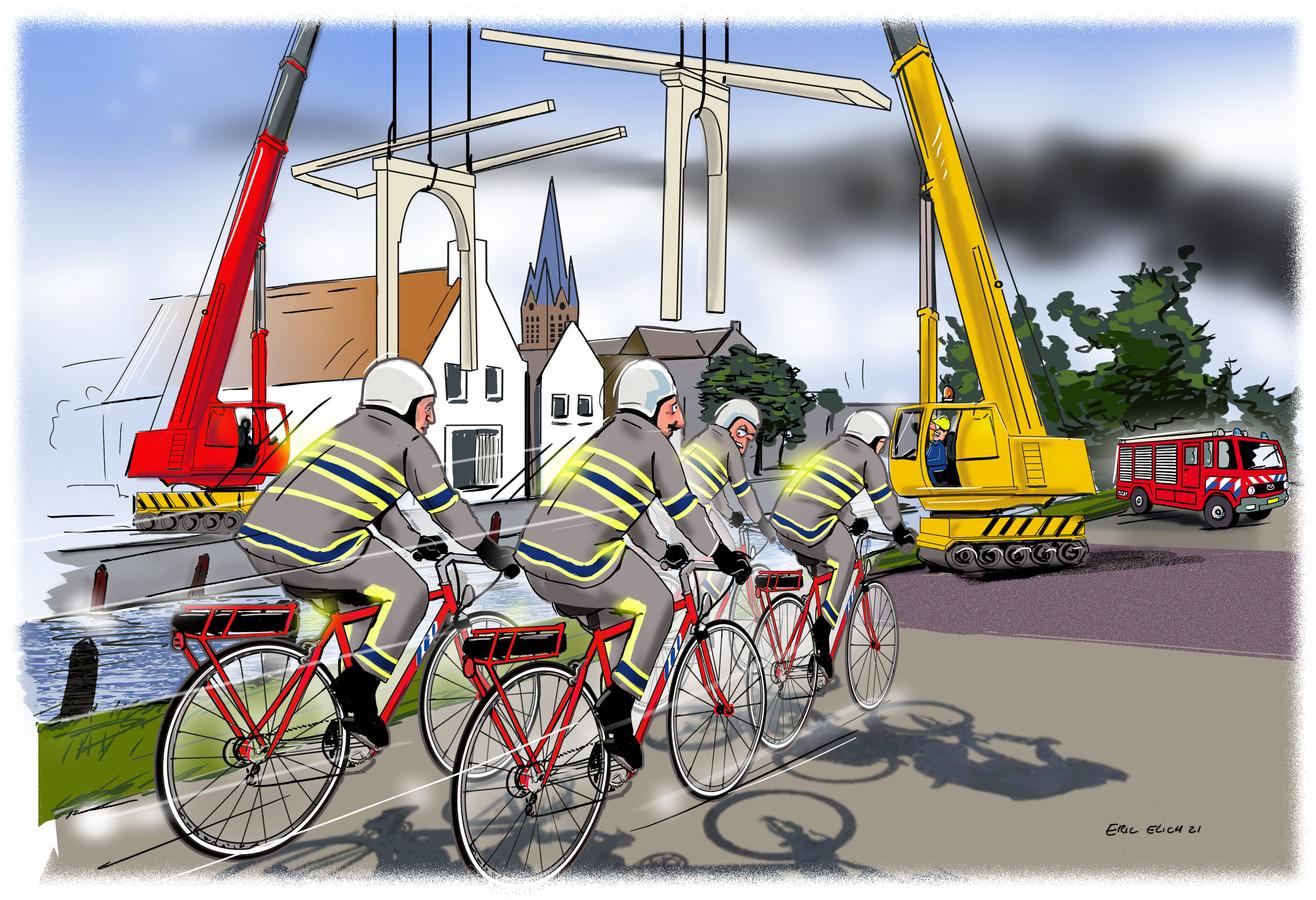 Omdat werkzaamheden aan een brug nabij de brandweerkazerne van Breukelen voor veel vertraging kan zorgen bij een uitruk, bedacht de brandweer een creatieve oplossing.