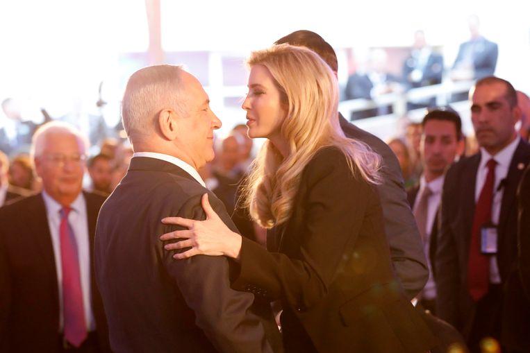 Israëlische premier Netanyahu verwelkomt Ivanka Trump in Jeruzalem. Beeld EPA