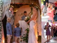 Gasten op 'verjaardagsfeest' weten niet wat ze meemaken: plots verschijnt een bruidspaar